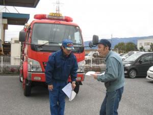 4-消防隊員へ避難後の人員報告